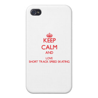 Keep calm and love Short Track Speed Skating iPhone 4 Case