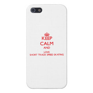 Keep calm and love Short Track Speed Skating iPhone 5/5S Cover