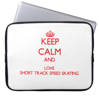 Keep calm and love Short Track Speed Skating Laptop Computer Sleeve