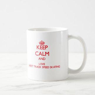 Keep calm and love Short Track Speed Skating Coffee Mug