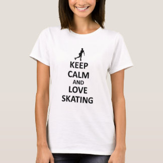 Keep calm and love skating T-Shirt