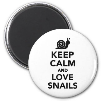 Keep calm and love Snails Magnet