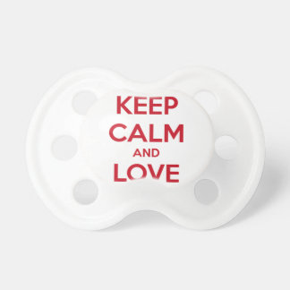 Keep Calm and Love Spain Baby Pacifiers