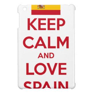 Keep Calm and Love Spain iPad Mini Case