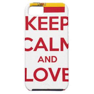 Keep Calm and Love Spain iPhone 5 Cover