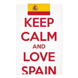 Keep Calm and Love Spain Stationery