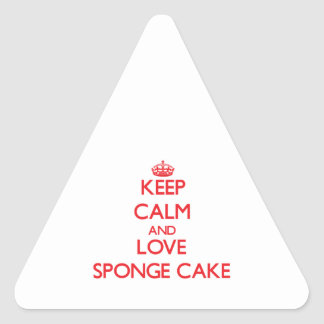 Keep calm and love Sponge Cake Triangle Sticker