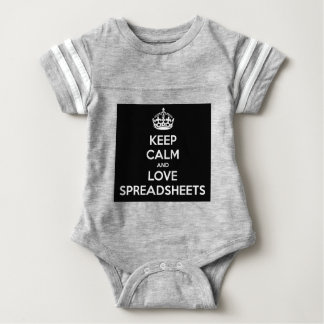 KEEP CALM AND LOVE SPREADSHEETS BABY BODYSUIT