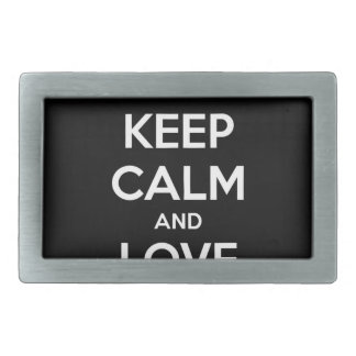 KEEP CALM AND LOVE SPREADSHEETS BELT BUCKLES