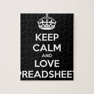 KEEP CALM AND LOVE SPREADSHEETS JIGSAW PUZZLE