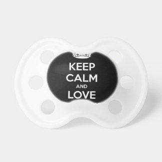 KEEP CALM AND LOVE SPREADSHEETS PACIFIERS