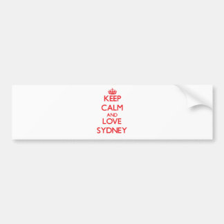 Keep Calm and Love Sydney Bumper Sticker