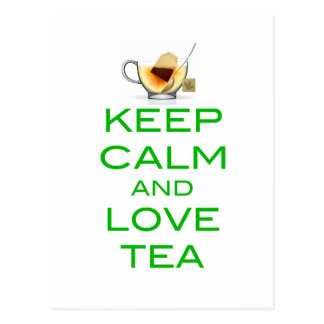 Keep Calm and Love Tea Original Design Postcard