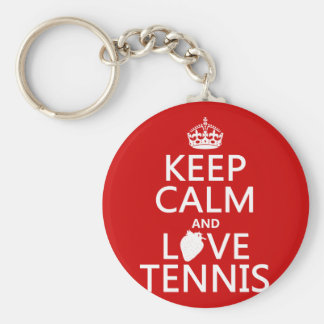 Keep Calm and Love Tennis (in any color) Keychain
