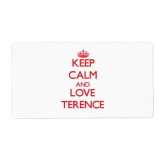 Keep Calm and Love Terence Custom Shipping Label