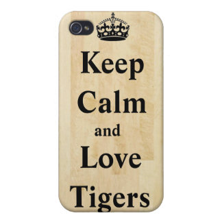 Keep Calm and Love Tigers iPhone 4 iPhone 4 Covers