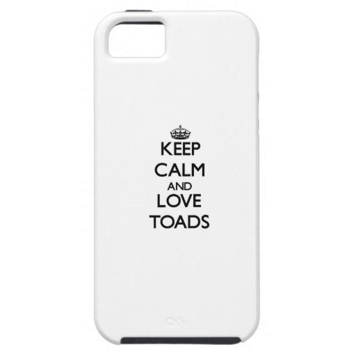 Keep calm and Love Toads iPhone 5/5S Cover