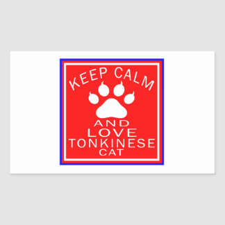 Keep Calm And Love Tonkinese Sticker