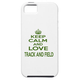 Keep Calm And Love Track and Field Case For The iPhone 5