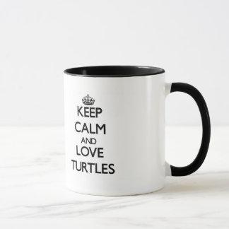 Keep calm and Love Turtles Mug