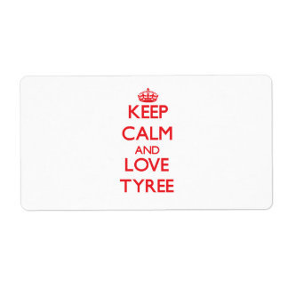 Keep Calm and Love Tyree Custom Shipping Labels