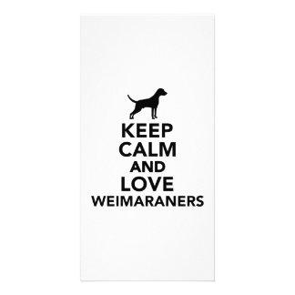 Keep calm and love Weimaraners Photo Card