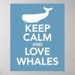 Keep Calm and Love Whales Print