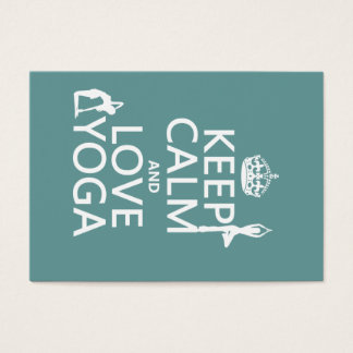 Keep Calm and Love Yoga (customizable colors) Business Card