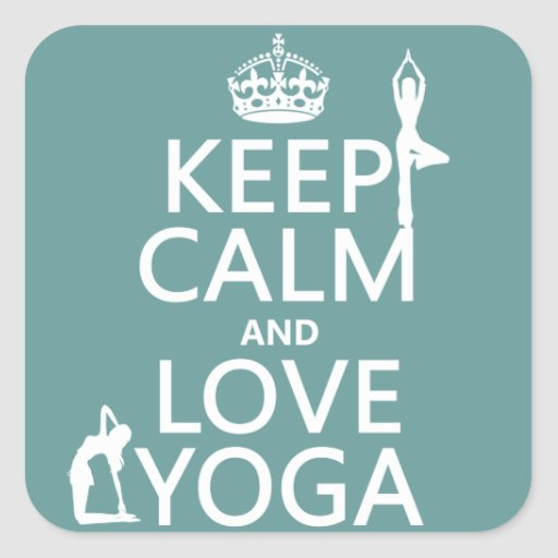 Keep Calm and Love Yoga (customizable colors) Stickers