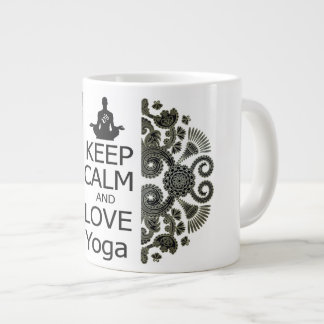 KEEP CALM AND LOVE Yoga Large Coffee Mug