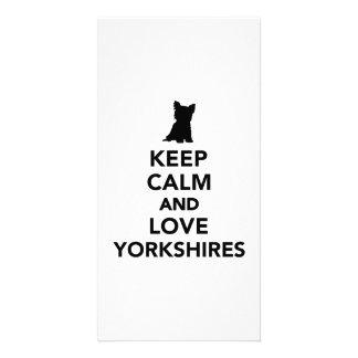 Keep calm and love Yorkshires Photo Card