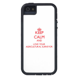 Keep Calm and Love your Agricultural Surveyor iPhone 5 Case