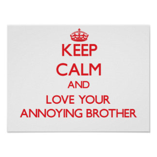 Keep Calm and Love your Annoying Brother Poster