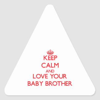 Keep Calm and Love your Baby Brother Stickers
