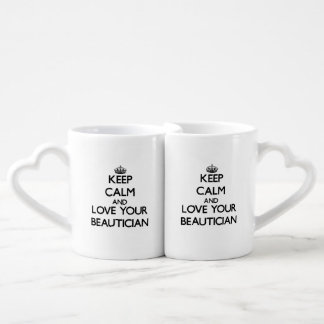 Keep Calm and Love your Beautician Lovers Mug Set
