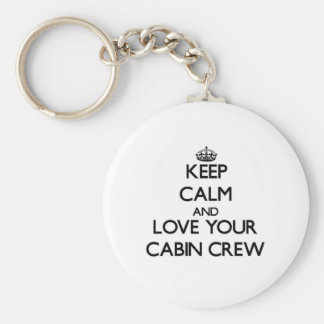 Keep Calm and Love your Cabin Crew Keychain