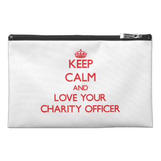 Keep Calm and Love your Charity Officer Travel Accessories Bag