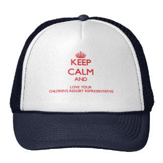 Keep Calm and Love your Children's Resort Represen Trucker Hat