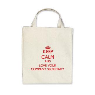 Keep Calm and Love your Company Secretary Bags