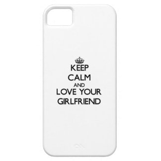 Keep Calm and Love your Girlfriend iPhone 5 Cases