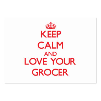 Keep Calm and Love your Grocer Business Card Templates