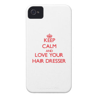 Keep Calm and Love your Hair Dresser iPhone 4 Covers