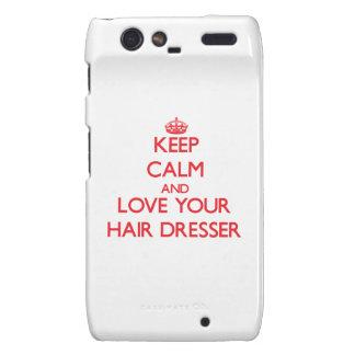 Keep Calm and Love your Hair Dresser Droid RAZR Cases
