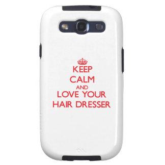 Keep Calm and Love your Hair Dresser Samsung Galaxy SIII Cases