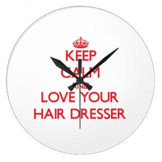 Keep Calm and Love your Hair Dresser Wallclock