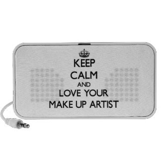 Keep Calm and Love your Make Up Artist iPhone Speaker