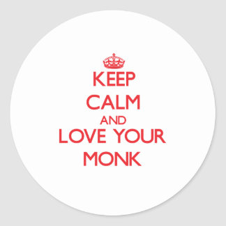 Keep Calm and Love your Monk Stickers