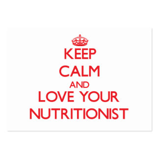 Keep Calm and Love your Nutritionist Business Card