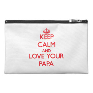 Keep Calm and Love your Papa Travel Accessory Bag