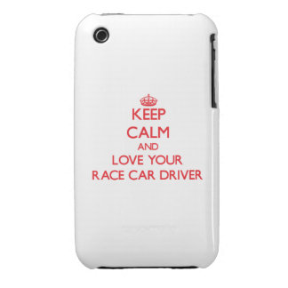 Keep Calm and Love your Race Car Driver Case-Mate iPhone 3 Cases